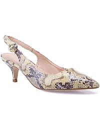 33eb2dc0afb59 Amazon.fr   Jaune - Escarpins   Chaussures femme   Chaussures et Sacs