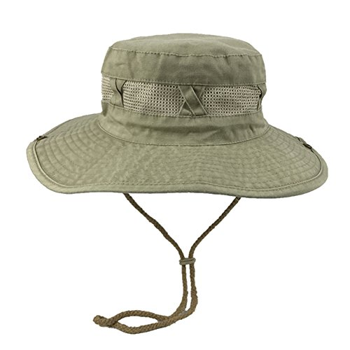 WYYY Hüte Männer Visier Runde Spitze Zusammenklappbar Crimpen Atmungsaktiv Sonnenschutz Im Freien (Farbe : Khaki)