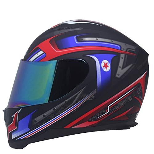 Pieno faccia Classic moto go kart casco anti nebbia Suanproof uomini Racing protezioni tappi donne moto casco professionale Mountain Bike Motocross Casch
