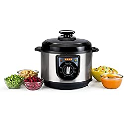 Usha EPC 3650 5L Electric Pressure Cooker (Stainless Steel)