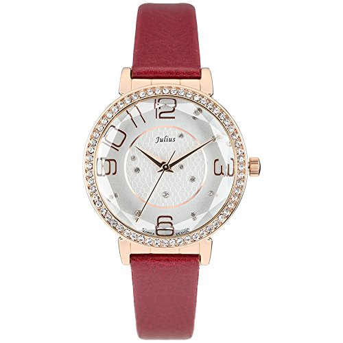 JULIUS Big Red Dial Contracted Fashion Personality