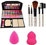 TYA Makeup kit + 5 pcs Makeup Brush + 2 pc Blender Puff