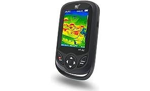 320 x 240 IR-Auflösung Wärmebildkamera, Infrarotkamera im Taschenformat mit 76800 Pixeln Echtzeit-Wärmebild, Temperaturmessbereich -4°F bis 572°F, Mini IR-Wärmebildkamera, Hti-Xintai