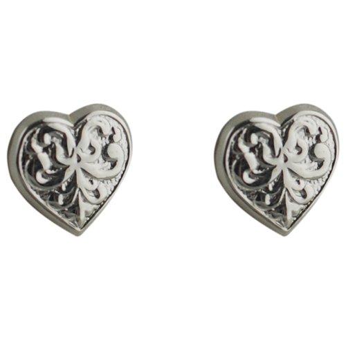 Orecchini, decorate, in argento, 10 x 10 mm, a forma di c & occhielli ur - Ur Amp