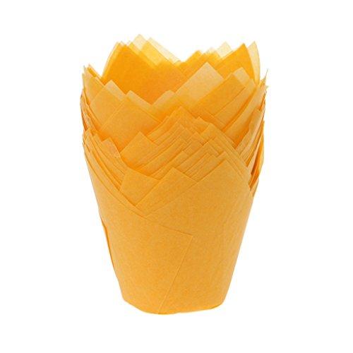 Qiman 50 Teile/Los Backpapier Tassen, Solide Wrapper Liner Cup Muffin Tulip Fall Kuchen Papier Backen Cupcake (Cupcake-fällen Wars Star)