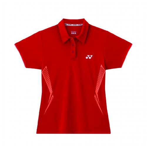 YONEX Polo da Badminton Donna, Rosso, M