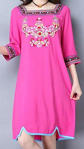 erdbeerloft - Damen Strandkleid im Azteken Design , S-2XL, Viele Farben Pink