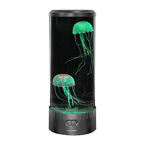 LED-Lampe mit Motiv: Quallen, von Lightahead, Fantasie, rund, Stimmungsleuchte, Farbwechsel mit 5 Farben, Wohndeko, Geschenk