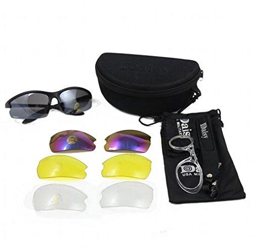 Nueva DAISY C3 militar táctica deporte gafas de gafas al aire libre 4 lentes gafas de sol gafas de sol de pesca de escalada de disparo caminatas