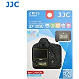 JJC LCP-1DXM2 2Kits PET Ultra Hard Polycarbonate LCD Guard Film Display Screen Protector for Canon Eos 1DX Mark II 1DXII with A&R Cleaning Cloth