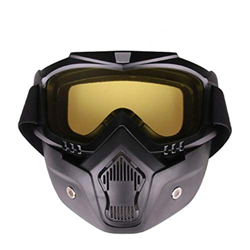 YHL Motocross-Brille Motorrad-Maske Mit Brille Mit Winddichtem Sand Anti-Friction Abnehmbar Für Das Fahren Im Freien,A -