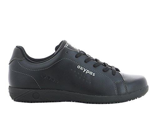 Oxypas Evan Herren Arbeits- und Sicherheitsschuhe | Sneaker, Farbe: Schwarz, Größe: 46 Restaurant Rutschfeste Schuhe