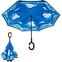 Biback Paraguas invertido, Paraguas a Prueba de Viento, Paraguas al revés, Paraguas para