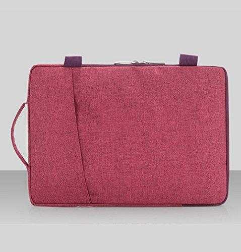 frixie (TM) trasporto Laptop Sleeve Custodia Per Macbook Air Pro Ultrabook tessuto di cotone con tracolla per 111315Inch Borsetta 11inch 15inch