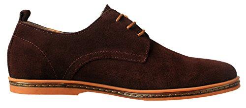 iLoveSIA Herren Oxford-Schuhe aus Wildleder Braun