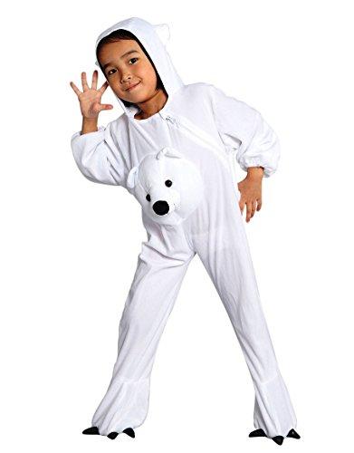 Eisbären-Kostüm, J45/00 Gr. 98-104, für Klein-Kinder, Babies, Eis-Bären Kostüme Fasching Karneval, Kleinkinder-Karnevalskostüme, Kinder-Faschingskostüme,Geburtstags-Geschenk Weihnachts-Geschenk (Eisbär Kostüm Kleinkind)