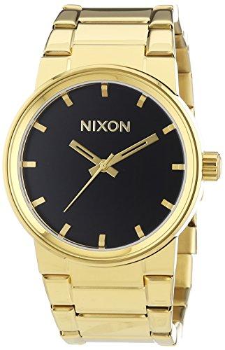 nixon-cannon-all-gold-black-reloj-de-cuarzo-para-hombre-correa-de-acero-inoxidable-color-dorado