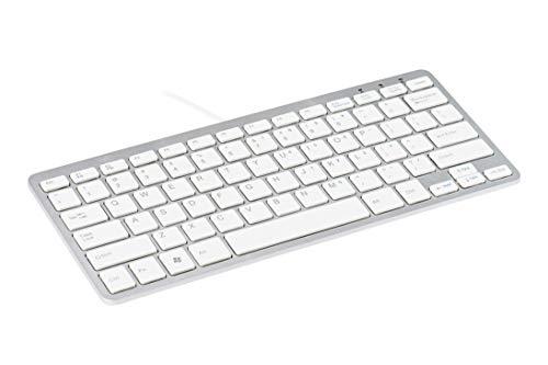 R-Go Ergonomische Compact-Tastatur DE-Layout weiß