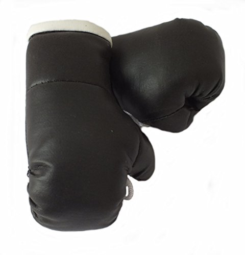 Mini Boxhandschuhe SCHWARZ, 1 Paar (2 Stück) Miniboxhandschuhe z. B. für Auto-Innenspiegel