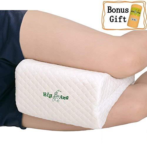 Ortopédica rodilla cojín para ciática Alivio–mejor para pierna, espalda, y rodilla pain- cuña de espuma con efecto memoria Contour Pierna Almohada con funda extraíble