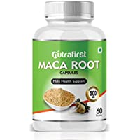 Nutrafirst 100% Natural & Organic Maca root extract - 60 Capsules (Pack of 1)