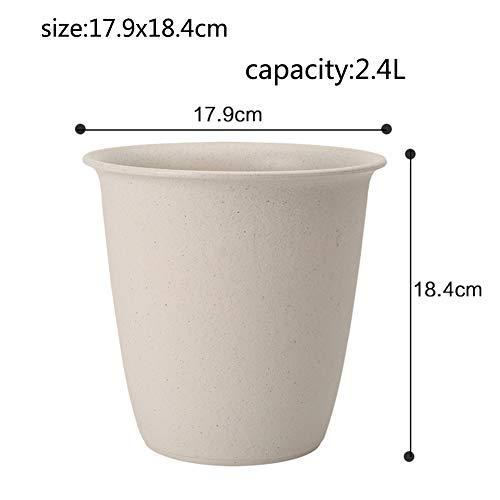 Jardinage Imitation céramique Plastique Grande Floral Pot de Fleur Rond Balcon Simple Pot de Fleurs Haut-A 2.4L