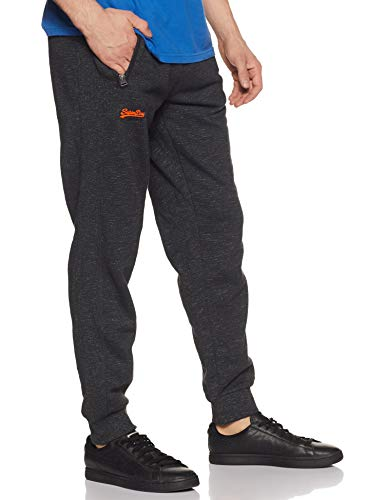 Best superdry backpack in India 2020 Superdry Men's Relaxed Fit Joggers (M70101AT_Black Carbon Feeder_L) Image 4
