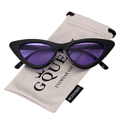 GQUEEN Clout Brille Vintage Cat Eye Sonnenbrille Mod Style UV-Schutz Kurt Cobain Gl?ser,GQZ7
