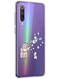 Oihxse Animal Serie Case Compatible con Xiaomi Mi 5X/Xiaomi Mi A1 Funda Transparente Suave Silicona Elefante Conejo Patrón Protector Carcasa Ultra-Delgado Creativa Anti-Choque Cover (A7)