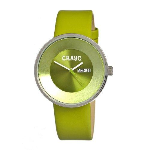 crayo-cracr0203-orologio-da-polso-cinturino-in-pelle-colore-verde