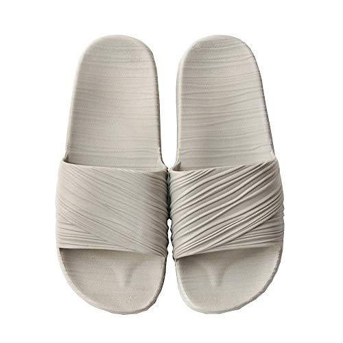 Mini Balabala Hausschuhe für Damen und Herren Memory Foam Baumwolle Hausschuhe Flachs Hausschuhe Rutschfeste offene Zehenpaar Mules Schuhe weich gemütlich waschbar,43-44 EU,Hestellergrösse 44-45 Peep-toe-mini