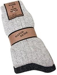 Herren Wollsocken Wollsocken aus WOLLE mit SEIDE weich und warm 39-42 43-46, 2 Paar