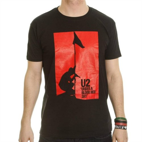 Under a Blood Red Sky T-Shirt (Black,M,Male)