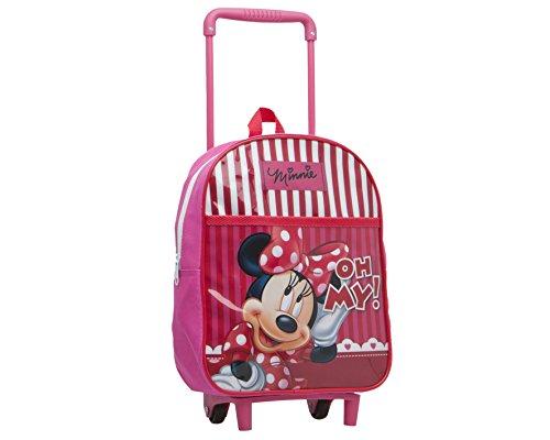Disney - Bambini Trolley Zaino Rosa Minnie Mouse - 28X22 Cm - Scuola E Asilo