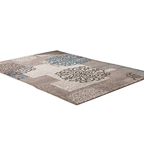 SBL Verdicktes Einfaches Modernes Wohnzimmer Berühmter Ethnischer Teppich, Pastoraler Couchtischteppichschlafzimmer-Nachtteppich,Flacher Kaffee,80 * 120 cm