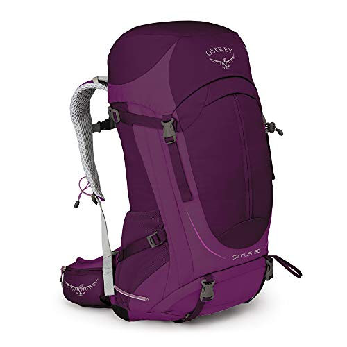 Osprey Sirrus 36 belüfteter Wanderrucksack für Frauen - Ruska Purple (WS/WM) - Momente Schnee Kostbare