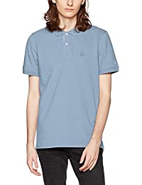 SELECTED HOMME Herren T-Shirt Shharo Melange Ss Embroidery Polo Noos