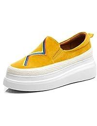 Mocasines de Cuña Plataforma para Mujer,MWOOOK-825 Mujer Wedge Sneakers Plataforma Casual Loafers