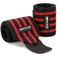 Ouken 1 Paar Verstellbare Handgelenks Spange Unisex Wrist Band Schutz Gurt Sportbekleidung, Rot