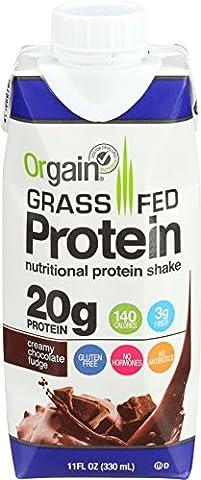 Orgain - Organic Ready to Drink Grass Fed Protein Shake Creamy Chocolate Fudge - 12 Pack