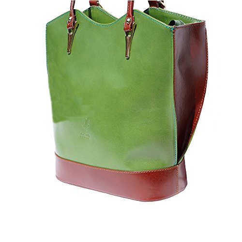 Borsa A Tracolla Convertibile Zaino 208 Verde-marrone