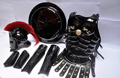 300 spartan helmet Maximus MUSCLE ARMOR & 300 HELMET & LEG & ARM ()
