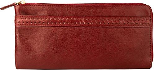 Hidesign Mina Deluxe Clutch, Leder, Rot -