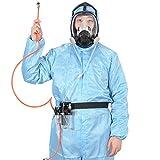 3 in 1 Funktion geliefert Air Fed Respirator System & Full Face Gasmaske, CE-Zertifizierung, FDA Getestet, Atmen Sie Leicht, Brauchen Keine Patrone, Hochwertige Maske Enthalten