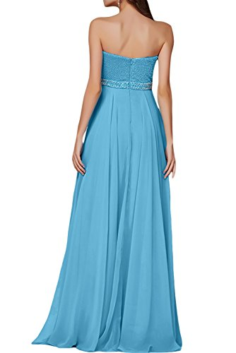 Gorgeous Bride Hochwertig Traegerlos Empire Chiffon Abendkleider Cocktailkleid Ballkleider Wassermelone