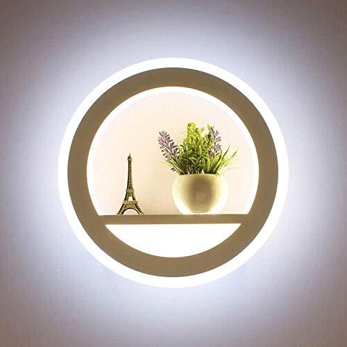 Kreative Wandleuchte LED-Nachtlicht für Gang- und Kinderzimmer@Warmweiß 3000K_Konzentrische Kreise