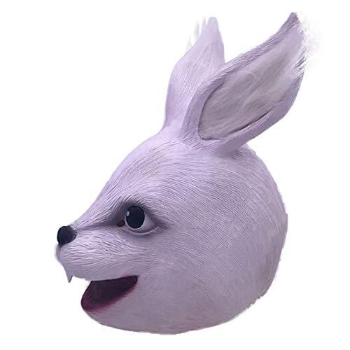 Wan mask Kaninchen-Kopfbedeckung Geeignet für Maskerade-Partys, Kostüme, Karneval, Weihnachten, Ostern, Halloween, Bühnenaufführungen, selbstgemachte - Karneval Kostüm Selbstgemacht