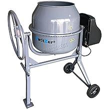 SwitZer 240V Volt 650W Portable Electric Concrete Cement Mixer Mortar Plaster Machine Capacity 140L Litre Drum Mouth Diameter 365mm