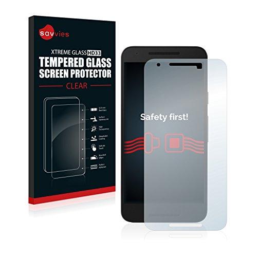 Savvies Panzerglas Schutzfolie kompatibel mit Google/LG Nexus 5X Echt-Glas Panzerglasfolie mit 9H Härte, Anti-Fingerprint