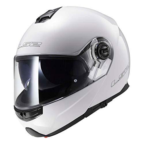 503251002/S CASCO MODULARE LS2 FF325 STROBE GLOSS WHITE MISURA S